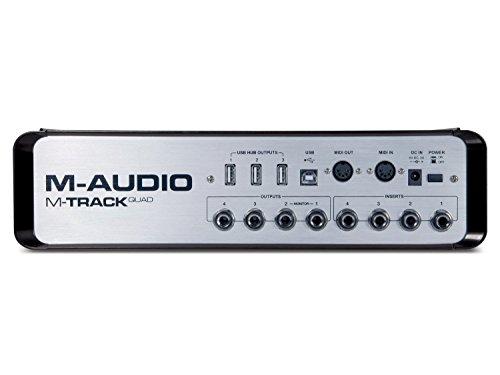 M-AUDIO M-Track Quad 4チャンネルオーディオ+MIDI USBインターフェース