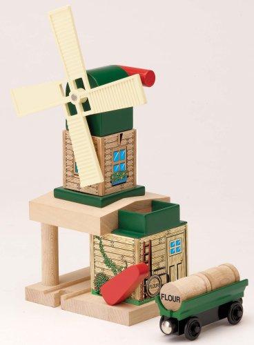 ラーニングカーブ きかんしゃトーマス 木製レールシリーズ トビーの風車 FC-54990