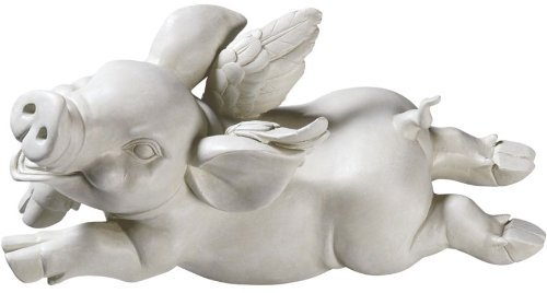 Design Toscano If Pigs Had Wings Sculpture: Set of Two