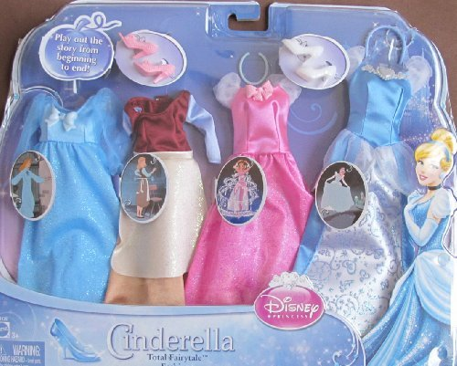 バービー Disney Princess CINDERELLA Total FAIRYTALE FASHIONS SET Fits BARBIE & Other 11.5