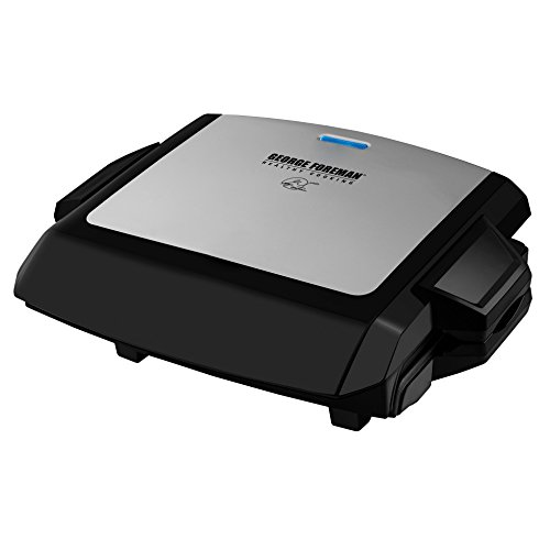 George Foreman ジョージフォアマン GRP101CTG 100-Square-Inch Nonstick Grill with Griddle Plates グ