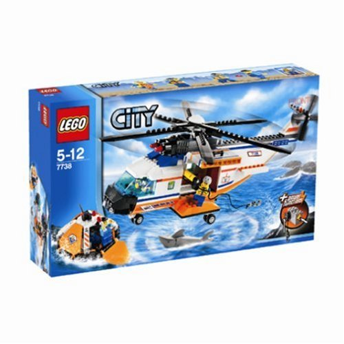 Lego City Coast Guard Helicopter & Life Raft 7738 by LEGO