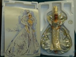 Platinum バービー Bob Mackie 2703 Timeless Treasures マテル 1991 MIB