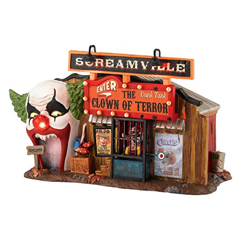 Department 56 Snow Village Halloween Lit, The Clown House of Terror, 5.59-Inch