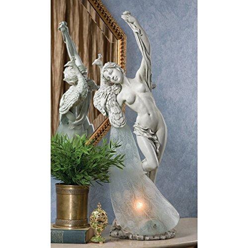 Design Toscano Peacock's Plume Illuminated Sculpture