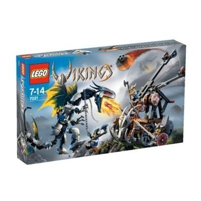 LEGO VIKINGS Double Catapult vs. The Armored Ofnir Dragon (7021) by LEGO