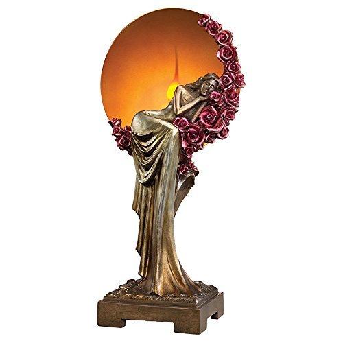 Design Toscano Elegant Slumber Art Deco Illuminated Sculpture, Multicolor