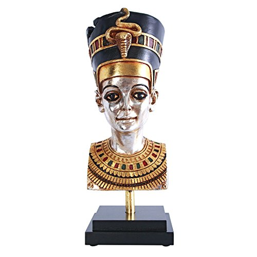 Design Toscano Egyptian Queen Nefertiti Statue on Museum Mount