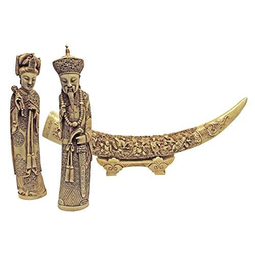 Design Toscano Mandarin Ivory Oliphants