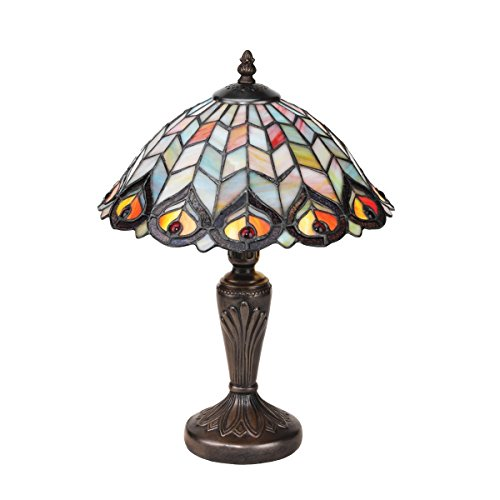 Design Toscano Tiffany-style Peacock Stained Glass Lamp