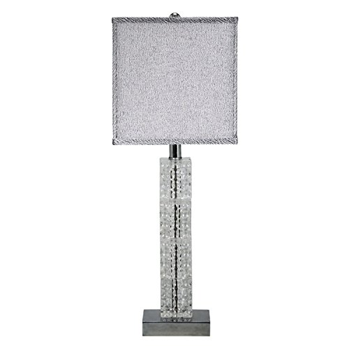Design Toscano Crystal Cascade Table Lamp, 10.5 x 7.5 x 26.5'