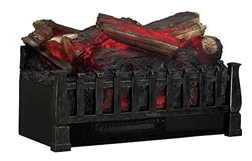 木枠のつくりがリアルな電気暖炉 Duraflameエレクトリックウッドログ木製レプリカ暖炉