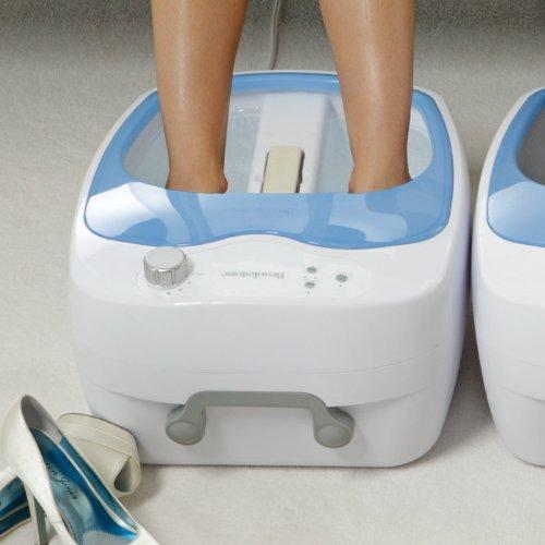 家庭で手軽に足湯 高性能フットスパマシン