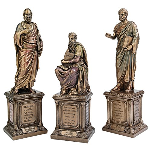 Design Toscano Master of Western Philosophy Statue: Set