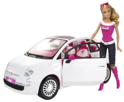 Barbie Doll and Fiat Vehicle by Barbie