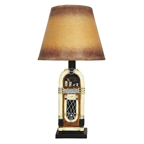 Design Toscano Rock and Roll Jukebox Table Lamp (Set of 2), 9 x 9 x 18.5'
