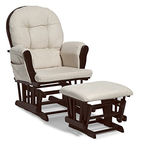 チェア Stork Craft Hoop Glider and Ottoman Set, Espresso/Beige(米国仕様)