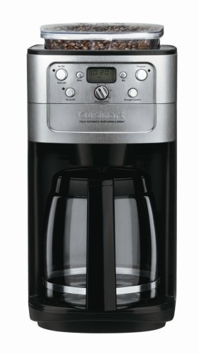 Cuisinart DGB-700BC Grind-and-Brew 12-Cup Automatic Coffeemaker, Brushed Chrome/Black by Cuisinart