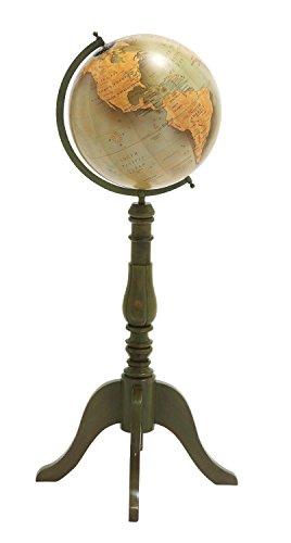 Benzara The Handsome Wood Metal Floor Globe