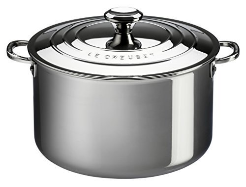Le Creuset of America Stainless Steel Deep Casserole with Lid, 3-Quart, Stainless by Le Creuset