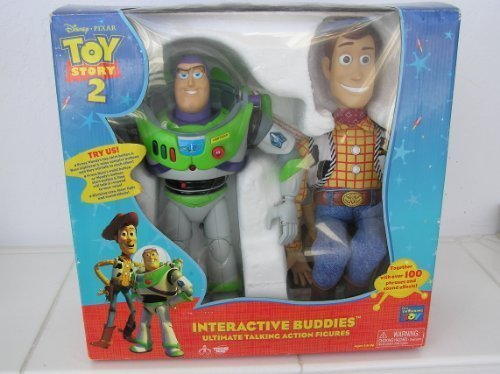Disney Pixar Toy Story 2 Buzz And Woody Interactive Figures. Ultimate Talking Action Figures. Toge