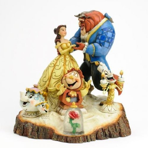 Disney Tradition Beauty and the Beast Tale as Old as Time [parallel import goods] Enesco wood carv