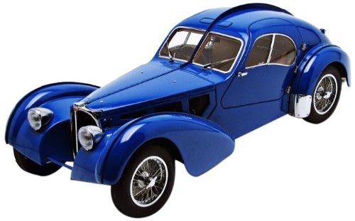 1938ブガッティ 57SCアトランティック・ブルー金属ワイヤスポークオートアート70943  AUTOart社
