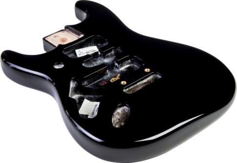 フェンダー USA ボディ Fender Stratocaster HSH Alder Body Modern Bridge Mount Black Lefthand ストラ