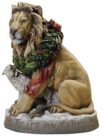 Josephs studio 20' Tall Lion and Lamb statuary