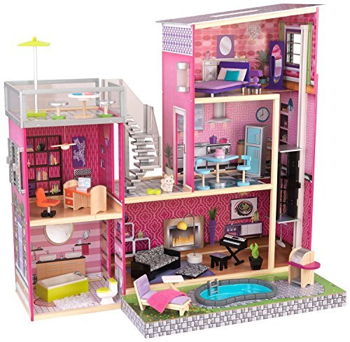 KidKraft Girl's Uptown Dollhouse with Furniture by KidKraft