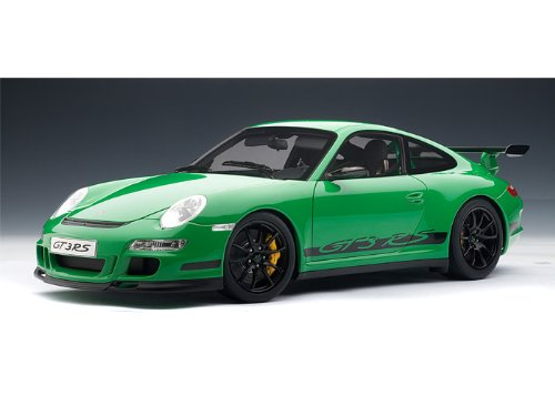 AUTOart Porsche (ポルシェ) 911 (997) GT3 RS 1/12- Green / Black AA12118 ミニカー ダイキャスト 自動