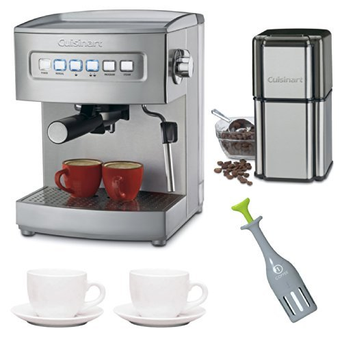 Cuisinart EM-200 Cuisinart Programmable 15-Bar Espresso Maker with Two 3-oz Ceramic Espresso Cups