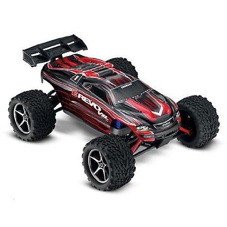 Traxxas 1/16 E-Revo 4WD VXL RTR w/ TQ 2.4 Radio: Red おもちゃ