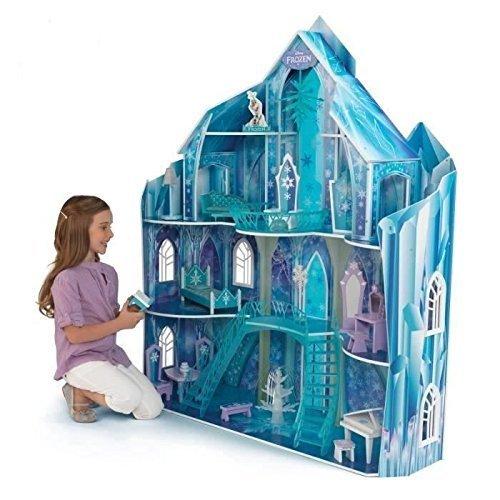 輸入アナと雪の女王アナ雪ディズニージュニア KidKraft Disney Frozen Snowflake Mansion Dollhouse + 19
