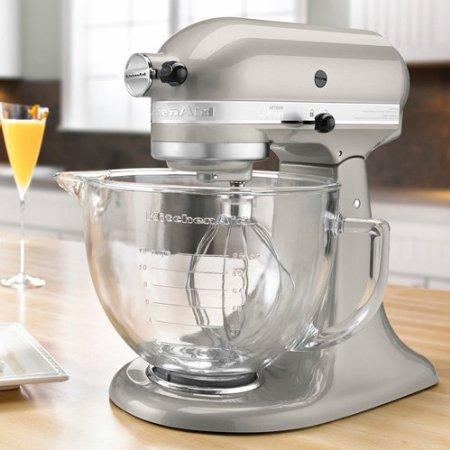 キッチンエイド KitchenAid 5-Quart Artisan デザインシリーズ スタンドミキサー Silver KSM155GB