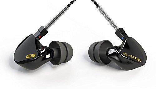EARSONICS S-EM6 Black Edition IEM イヤホン 6 バランスドアマーチュア搭載(ケーブル脱着式)