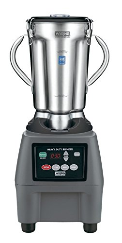 Waring CB15T Blender with Timer, Stainless Steel Container, 120V, 4 L Capacity, 26' Height, 15 Amp