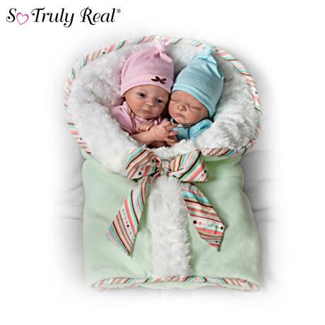 【アシュトンドレイク】Donna Lee ★Madison And Mason★ Poseable Twin Baby/赤ちゃん人形/ベビードール