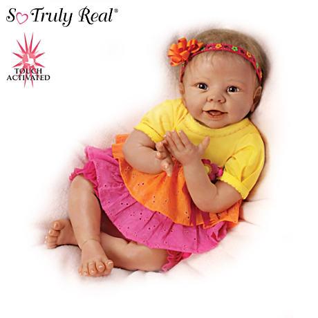 【アシュトンドレイク】Lifelike Interactive Baby Doll Giggles At Your Tou/赤ちゃん人形/ベビードール