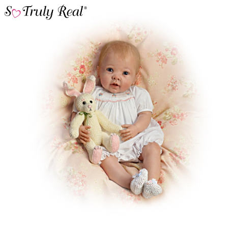 【アシュトンドレイク】Linda Murray ★Bunny Hugs★ Lifelike Poseable Baby/赤ちゃん人形/ベビードール