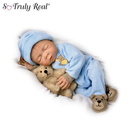 【アシュトンドレイク】Lifelike Denise Farmer Baby Boy Doll With Plush Te/赤ちゃん人形/ベビードール