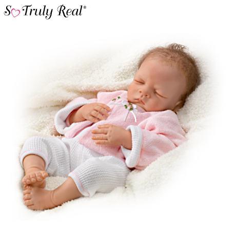 【アシュトンドレイク】Sleeping Baby Doll By Waltraud Hanl With RealTouch/赤ちゃん人形/ベビードール