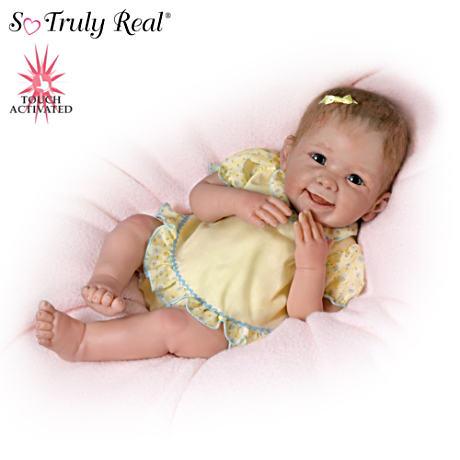 【アシュトンドレイク】★Tummy Tickles★ Touch-Activated Baby Doll By Lin/赤ちゃん人形/ベビードール