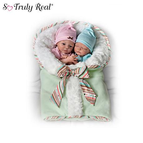 【アシュトンドレイク】Donna Lee ★Twice The Love★ Poseable Twin Baby Do/赤ちゃん人形/ベビードール