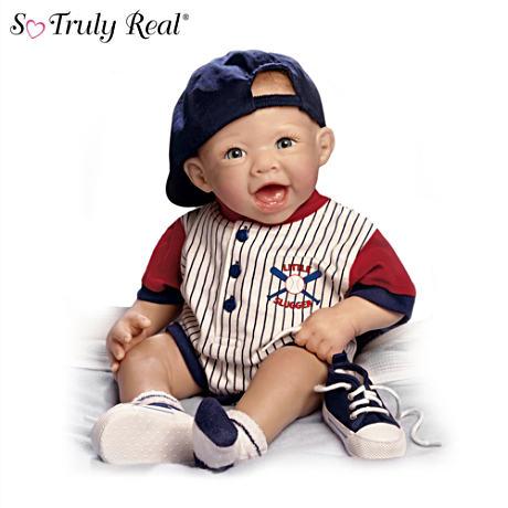 【アシュトンドレイク】Lifelike Baby Boy Doll In Baseball Outfit/赤ちゃん人形/ベビードール