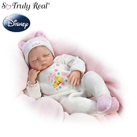 【アシュトンドレイク】Winnie The Pooh Baby Doll With Do-It-Yourself Name/赤ちゃん人形/ベビードール