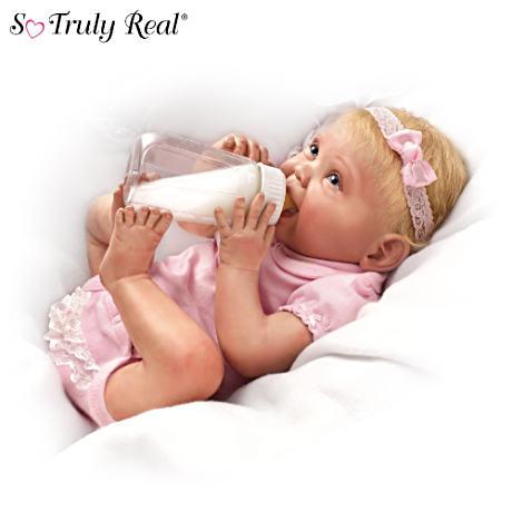 【アシュトンドレイク】Bonnie Chyle Lifelike Baby Doll With Bottle/赤ちゃん人形/ベビードール