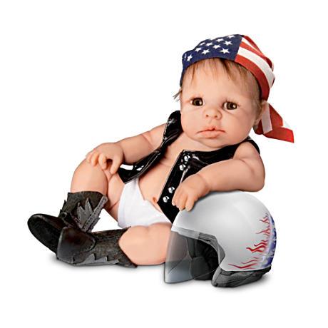 【アシュトンドレイク】Sherry Rawn Biker Babies Doll Collection/赤ちゃん人形/ベビードール