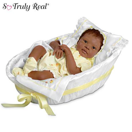 【アシュトンドレイク】Signature Edition African-American Baby Doll With /赤ちゃん人形/ベビードール