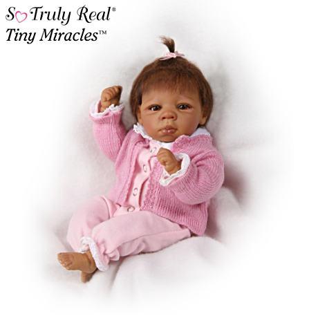 【アシュトンドレイク】Tiny Miracles ★Kendall★ Lifelike African America/赤ちゃん人形/ベビードール